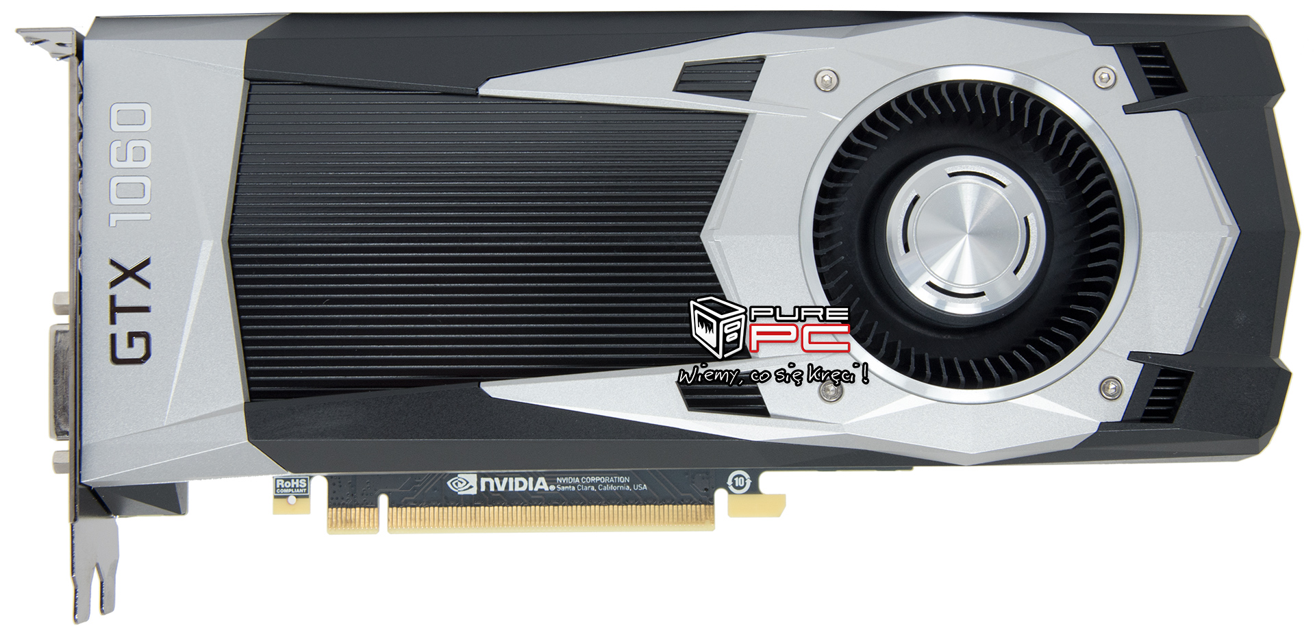 Nvidia GTX 1060 pictured - no SLI connector?