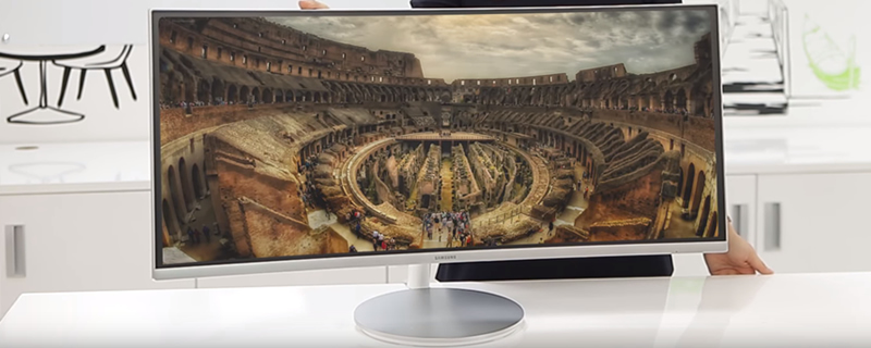 Samsung showcase a 3440x1440 100Hz HDR FreeSync display