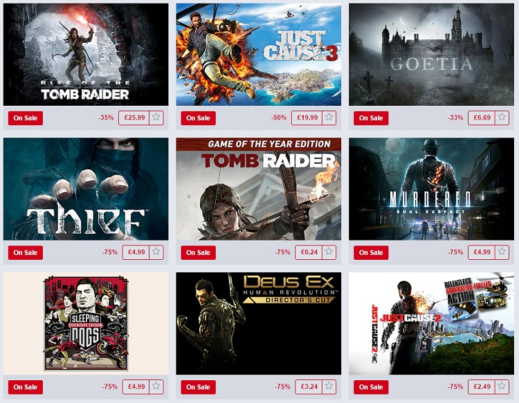 The Humble Square Enix Sale is now on