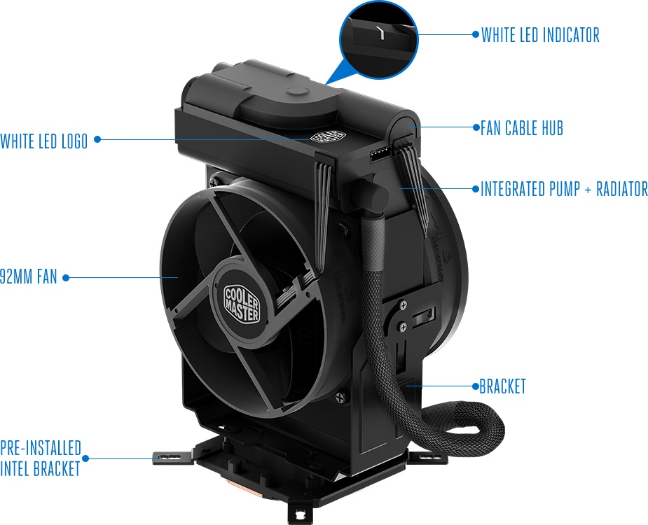Cooler Master reveals their MasterLiquid Maker 92 CPU cooler