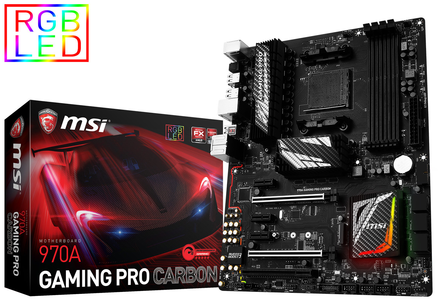 MSI announced their AM3+ 970A Gaming Pro Carbon motherboard