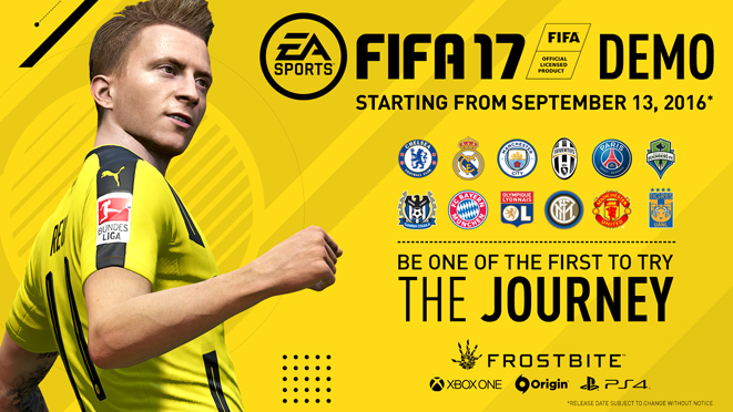 Fifa 17's Demo will be coming to PC on September 13th