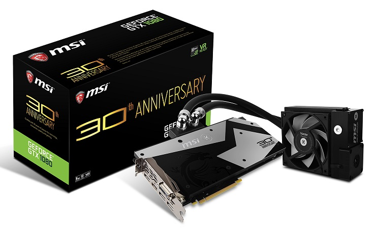 MSI and EK announce their 30th Anniversary GTX 1080 water cooled GPU