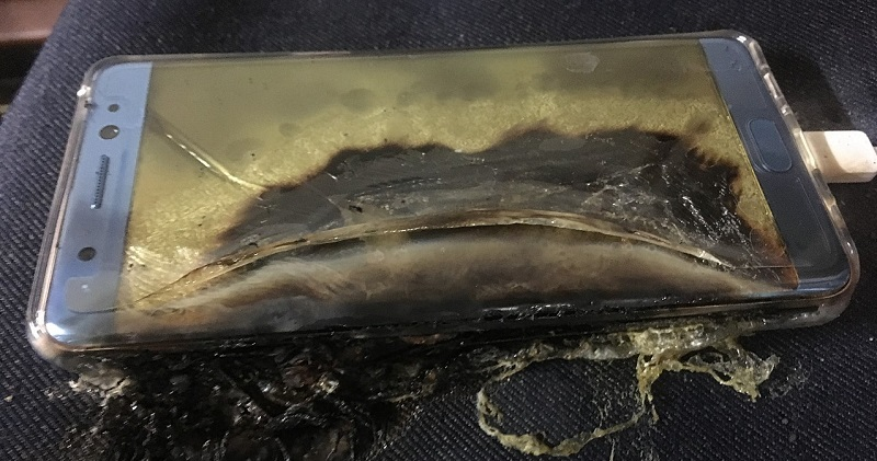 Replacement Samsung Galaxy Note 7 explodes in Taiwan