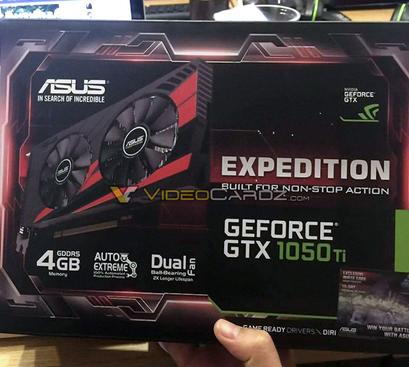 ASUS' GTX 1050 Ti has been pictured