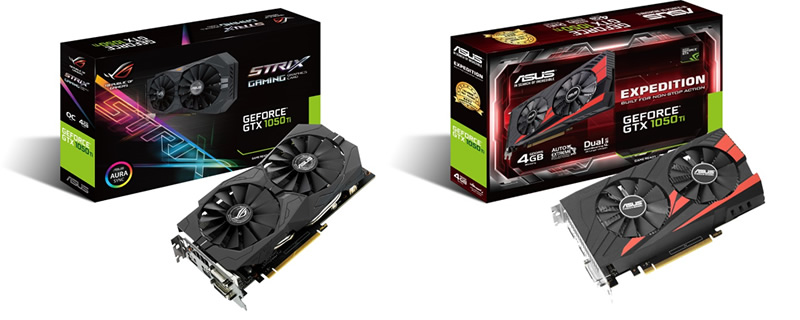 ASUS announces their new lineup of GTX 1050 and 1050Ti GPUs