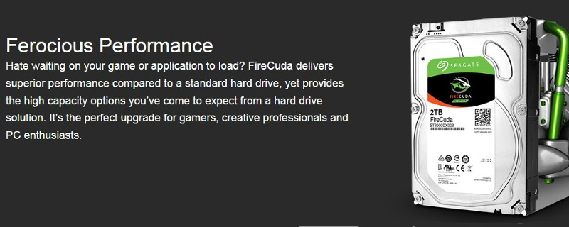 Seagate has officially launched their new FireCuda line of SSHDs