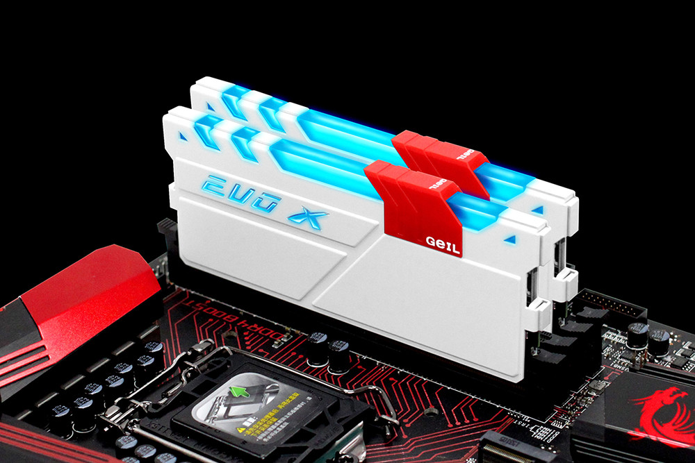 GeIL releases their new EVO X DDR4 memory kits with RGB Lighting