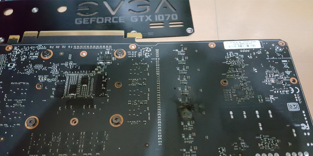 VRM components may overheat and fail on EVGA GTX 1070 or 1080 GPUs with ACX coolers