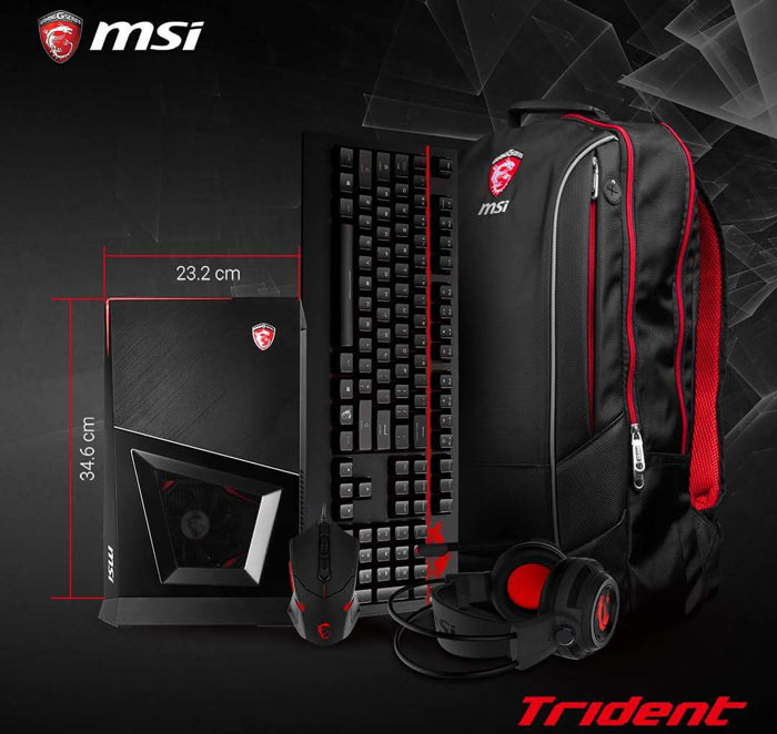 MSI tease their small form factor Trident VR ready PC