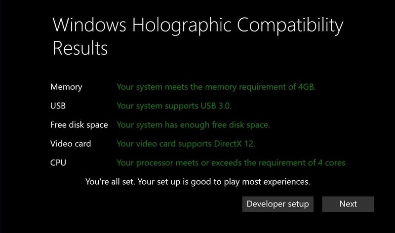 Microsoft releases the PC system requirements for Windows 10 VR