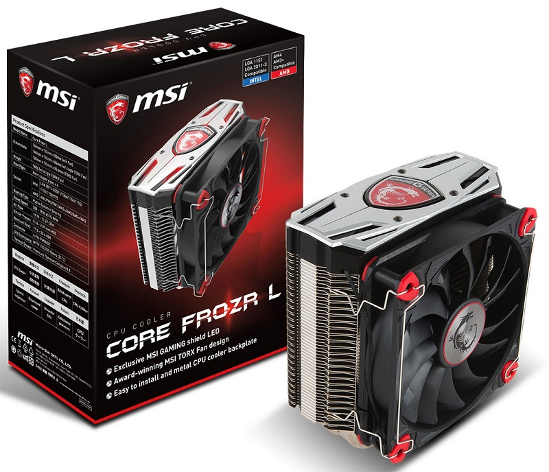 MSI announce their Gaming Core Frozr L CPU cooler