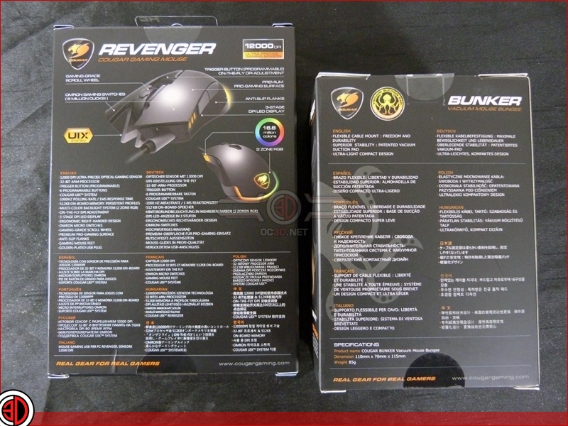 Cougar Revenger Mouse and Bunker Bungee Review