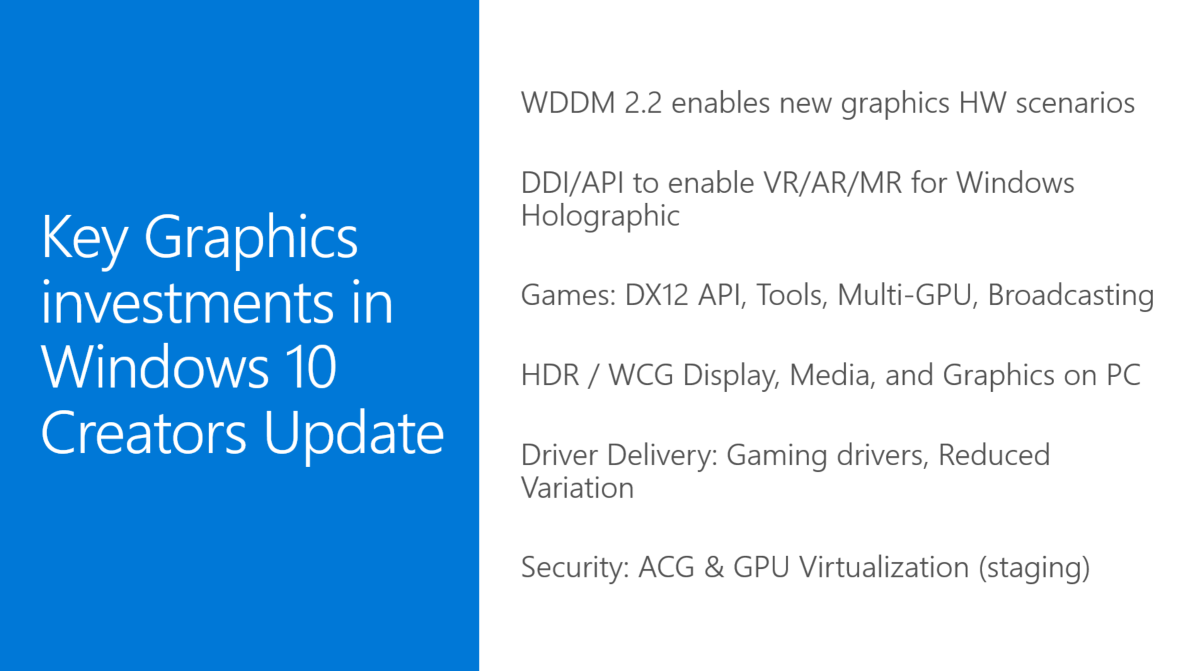 Microsoft's Windows 10 Creators update will add several new gaming oriented features