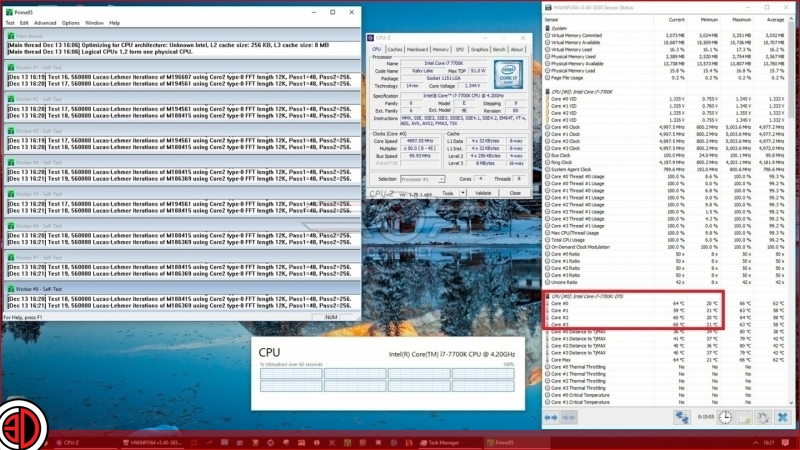 Intel i7 7700K temps lower by 26 degrees after TIM replacement