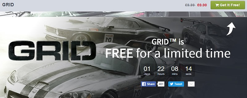 GRID is currently free on the Humble Store