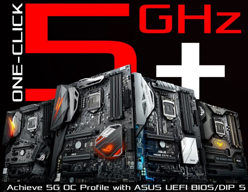 ASUS' Kaby Lake Z270 motherboards will feature a one-click 5GHz overclock profile