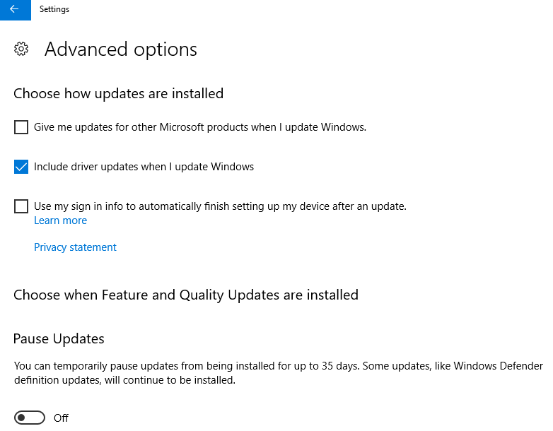 A future Windows 10 update will allow users to opt-out of driver updates