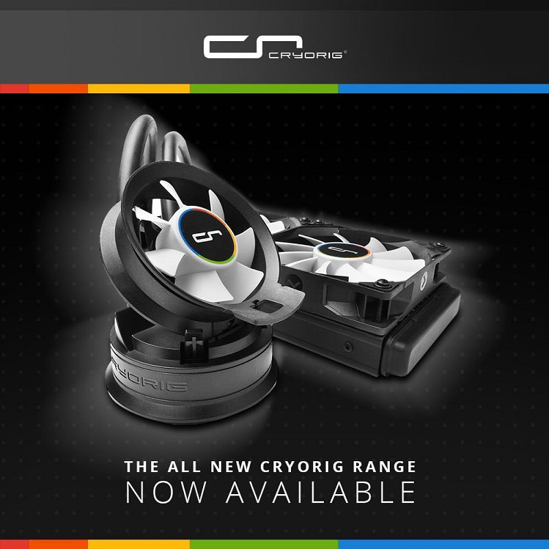Cryorig's full range of CPU coolers is now available to purchase in the UK