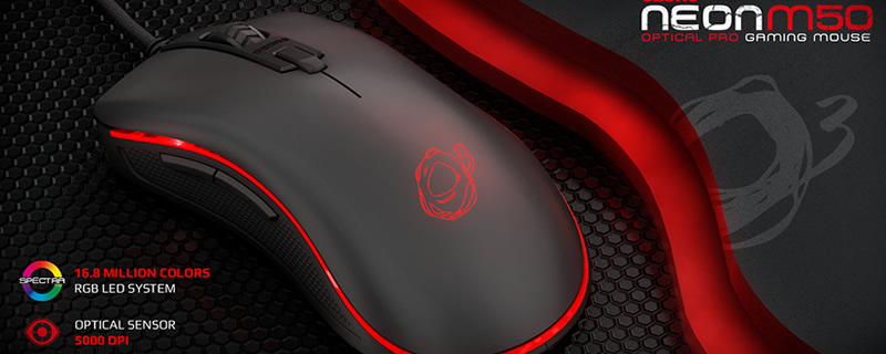 Ozone release their new M50 Neon series gaming mouse