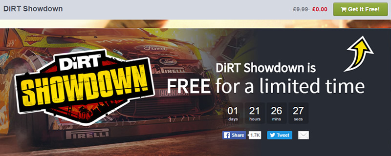 DiRT Showdown is free for a limited time on the Humble Store