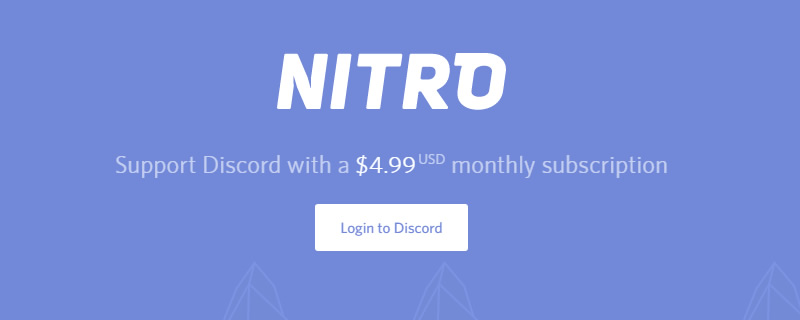 Discord announce their Nitro subscription service