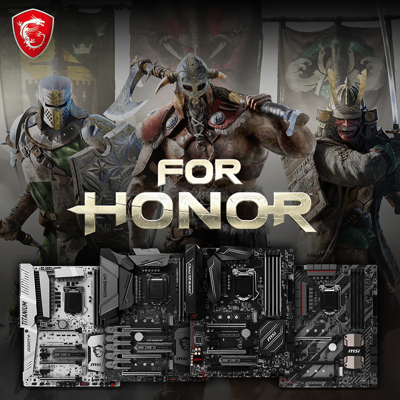 MSI are now giving away For Honor game keys with select gaming motherboards