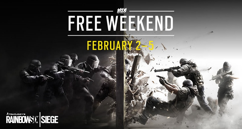 Rainbow Six Siege will be available to to play for free this weekend