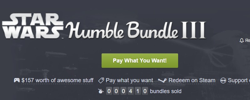 The Humble Star Wars Bundle is now live