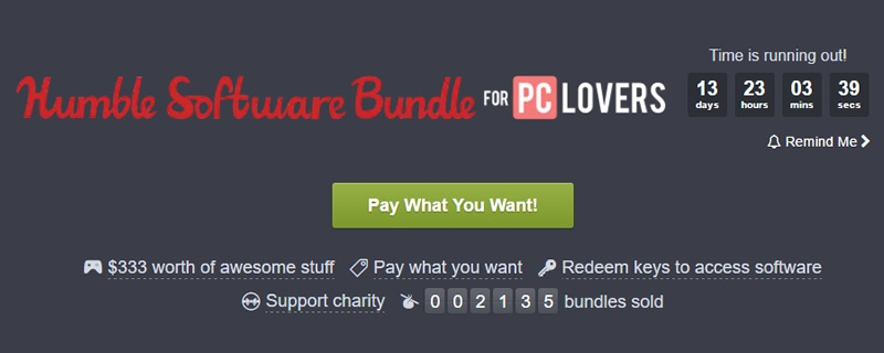 The Humble PC Lovers Bundle is now live