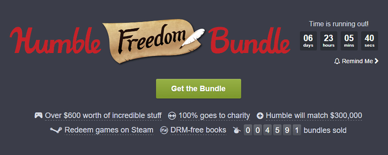 The Humble Freedom Bundle now includes 20 more items