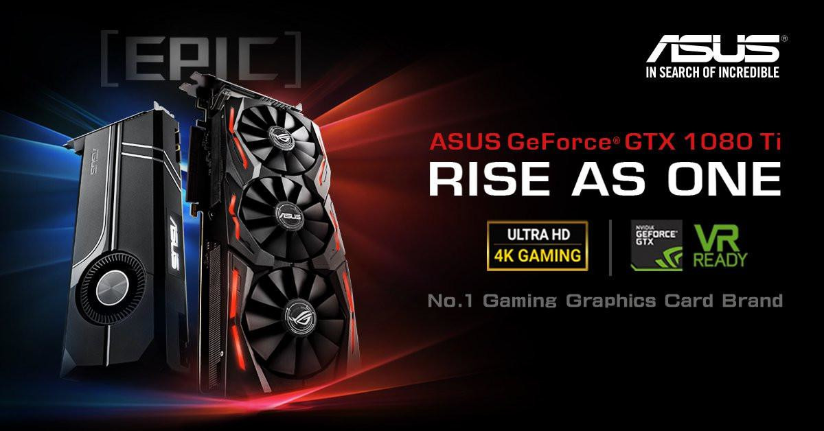 ASUS announce their GTX 1080Ti Strix OC and Turbo series GPUs