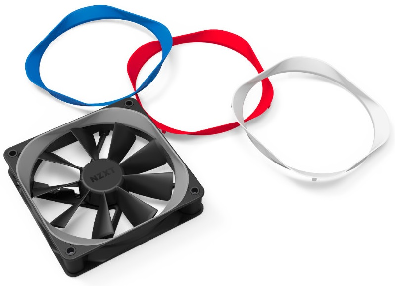 NZXT launch their new Aer F series of fans and coloured Trim packs