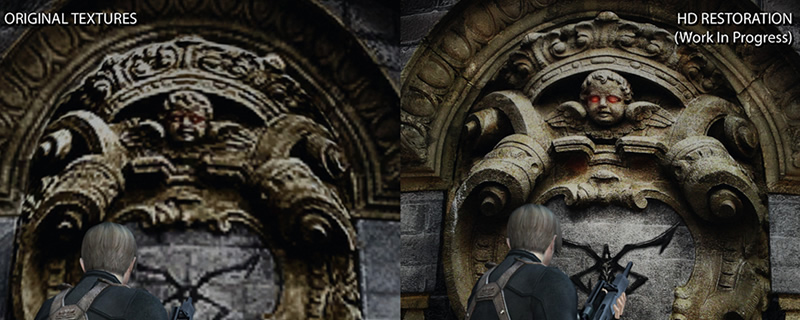 The Castle Texture pack for Resident Evil 4's HD Project is now available