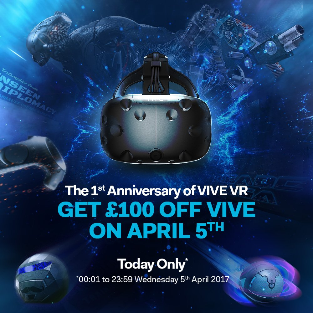 The HTC Vive is currently available with a £100 discount