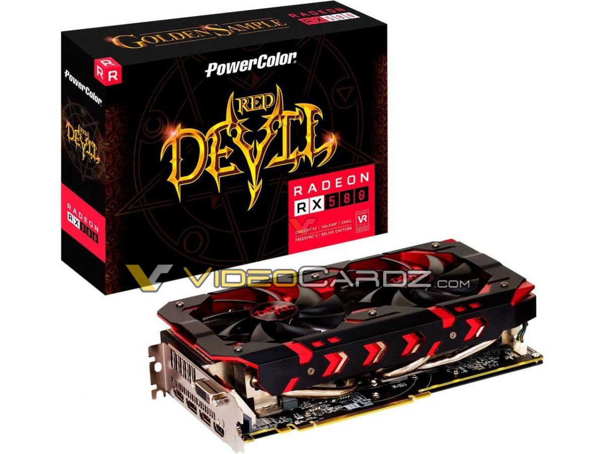 PowerColor's RX 580 Red Devil Golden Sample has been pictured