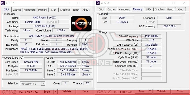 AMD Ryzen 5 1600X Overclocking