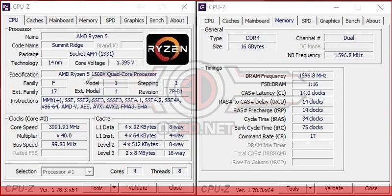 AMD Ryzen 5 1500X Overclocking