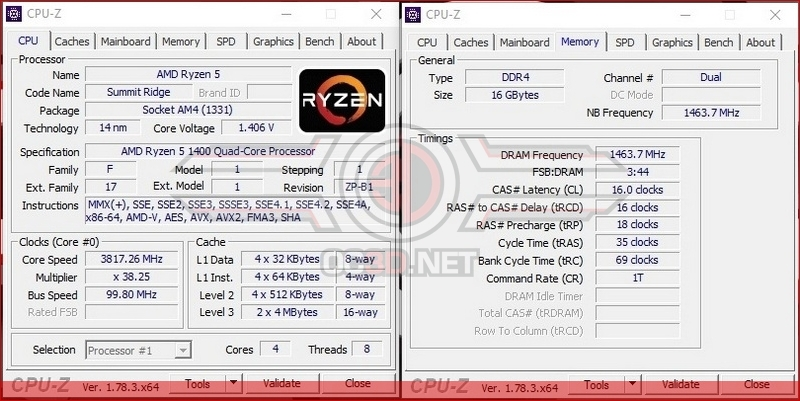 AMD Ryzen 5 1400 Overclocking
