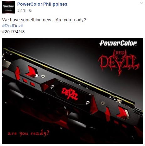 Powercolor confirms that the RX 500 series will launch on April 18th