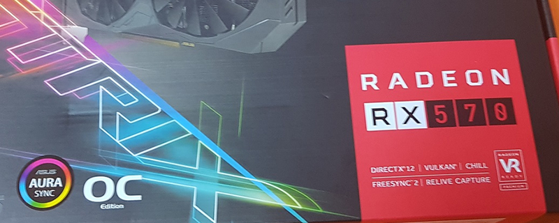 ASUS' RX 570 has been pictured