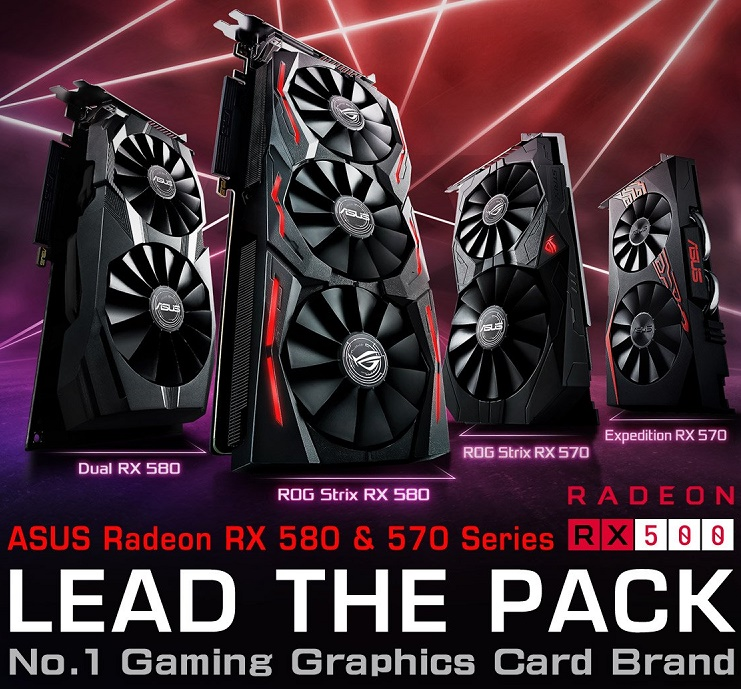 ASUS announce their new RX 500 series of Strix GPUs.