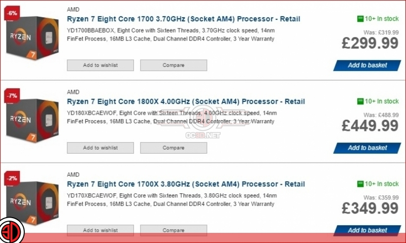 AMD have silently reduced the prices of the Ryzen 7 lineup