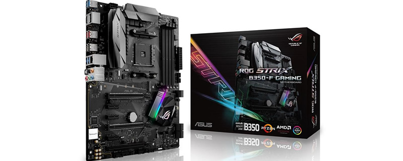ASUS AM4 X370-F and B350-F Strix pictured
