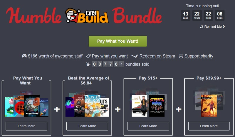 The Humble TinyBuild bundle is now live