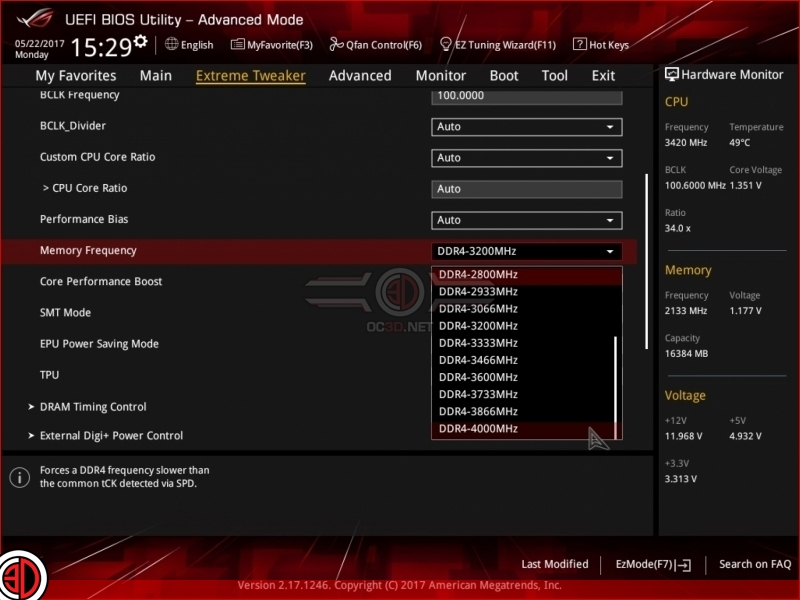 ASUS' Crosshair VI Hero now supports 3200MHz+ memory multipliers