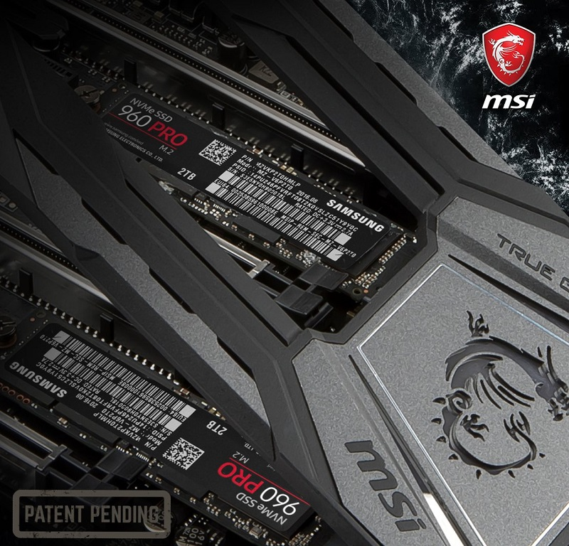 MSI's reveals their new M.2 Shield FROZR cooling solution