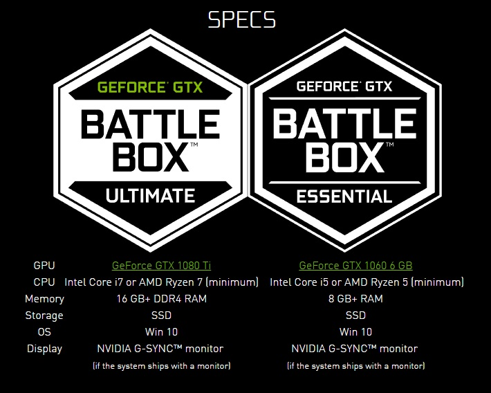 Nvidia announce a new GTX 10 series of Battlebox systems