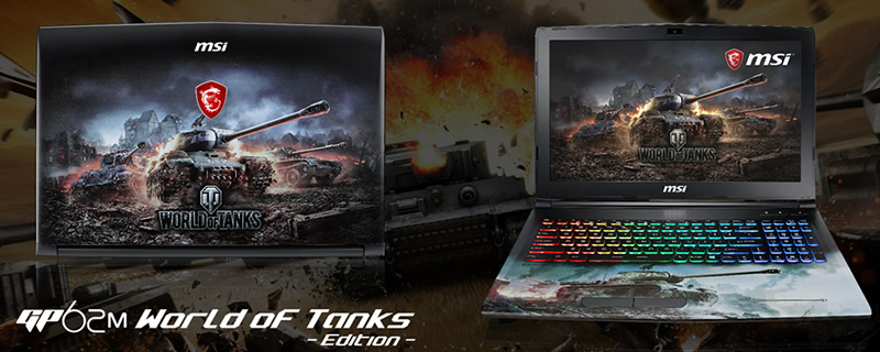 MSI release their limited edition World of Tanks GP62M notebook