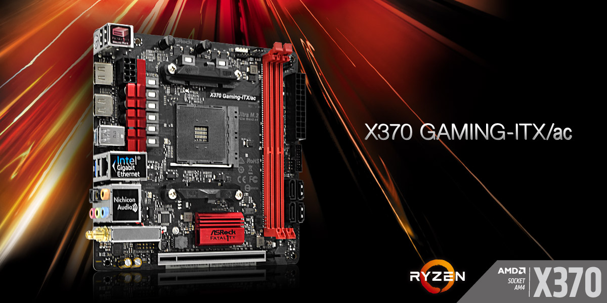 ASRock announce their new Gaming-ITX series of AM4 motherboards
